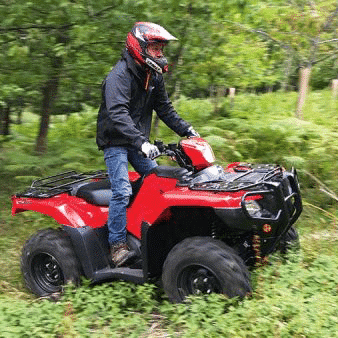 Honda Quads - ATV - Quad Bike riding through fields
